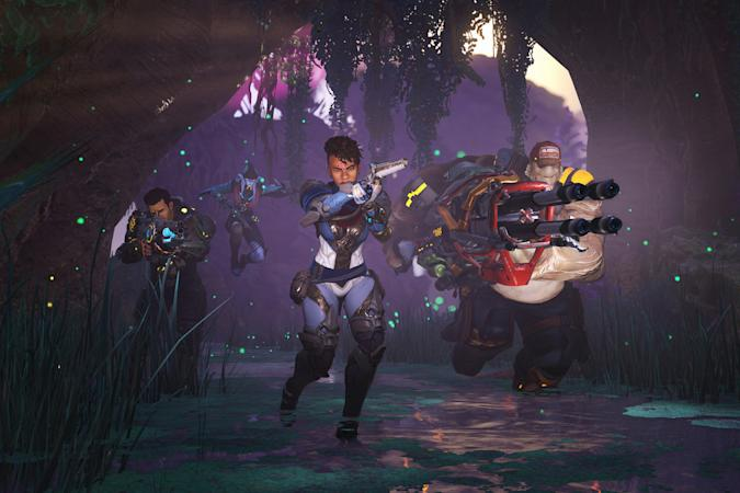 Players fighting together in Amazon's 'Crucible'