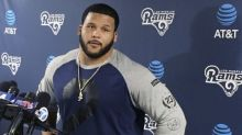 Aaron Donald reportedly absent from Rams OTAs over contract issue