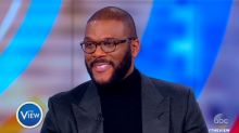 Tyler Perry overcome with emotion discussing his late mother