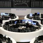 Upbeat economic data helps European shares snap three-day losing run