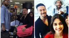 Photos: Ranveer Singh chats with Tiger Shroff as latter sits on Disha Patani's lap at Sri Lankan airport