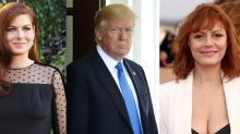 Debra Messing would rather be stuck in an elevator with Trump than Susan Sarandon