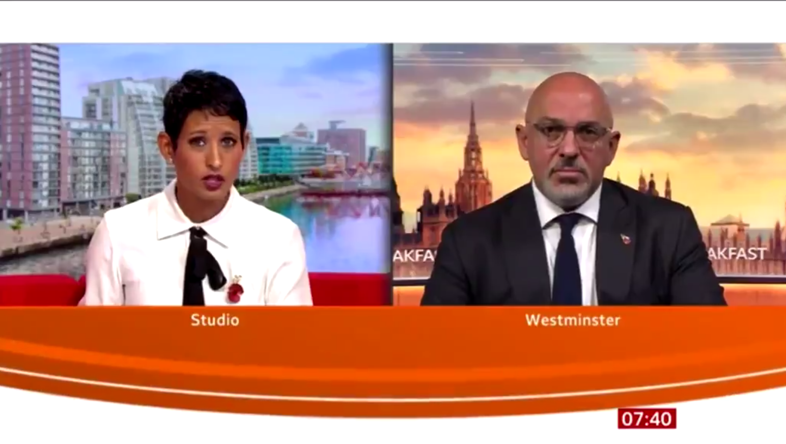 BBC Breakfast's Naga Munchetty praised as she takes on Tory minister Nadhim Zahawi over help for self-employed