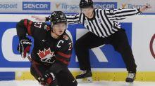 Canada's captain Barrett Hayton leaves game vs. Finland