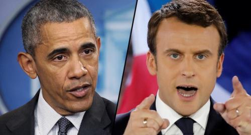 Former U.S. President Barack Obama, left, and head of France's political movement En Marche !, Emmanuel Macron. (Photos: Alex Wong/Getty Images, Benoit Tessier/Reuters)