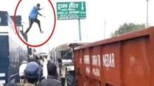 Ambala youth who climbed atop police van to close water cannon charged with attempt to murder, rioting