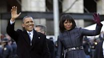 Raw: Obama Walks for Part of Inaugural Parade