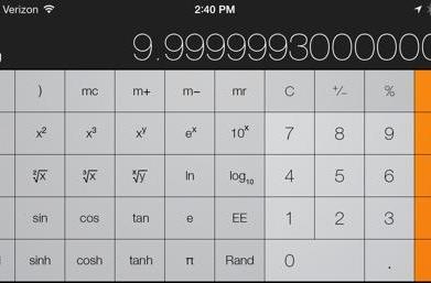 Calculating the difference: a look at calculator accuracy in iOS