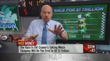 Cramer tracks the 'very close' race to $1 trillion betwee...