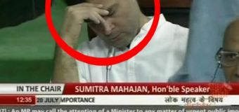 Did Rahul Gandhi doze off again in Parliament?
