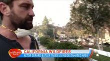 Gerard Butler goes inside damaged California areas