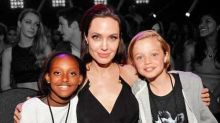 "Angelina Jolie Says ""Cause a Little Trouble"" at Kids' Choice Awards"