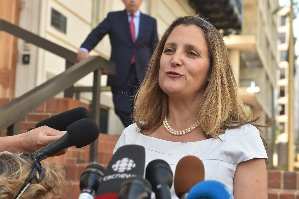 Canadian Foreign Minister Chrystia Freeland was upbeat about the potential for progress after Mexico agreed to a new trade deal with the United States (AFP Photo/Nicholas Kamm)