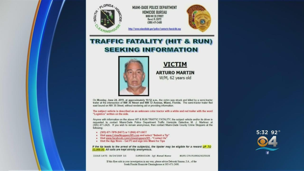 Driver Involved In Deadly West Miami-Dade Hit & Run Sought By Police