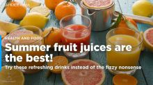 This summer, quit fizzy drinks and switch to these healthy juices