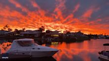 'Pearler of a Sunset': Resident Amazed by Stunning Sunset in Noosa, Queensland
