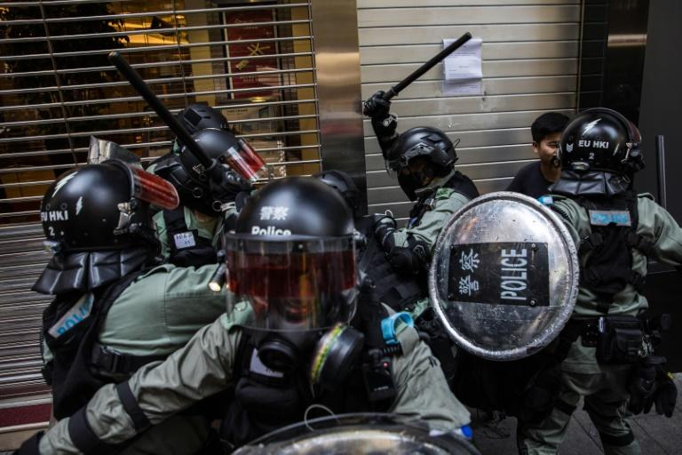 The Hong Kong government has repeatedly rejected demands from protesters for a fully independent inquiry into police behaviour during the protests (AFP Photo/DALE DE LA REY)