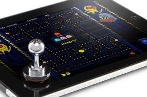 ThinkGeek's Joystick-It offers a more traditional arcade joystick for your iPad's screen