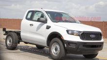 2019 Ford Ranger XL chassis cab spied complete with window sticker