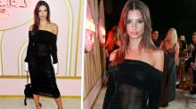 Em Rata rocks jaw-dropping sheer dress at Emmys after party