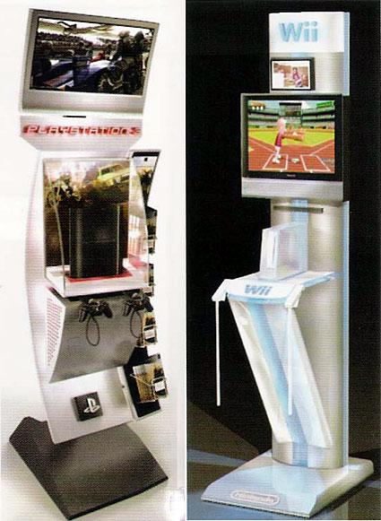 Are these the PS3 and Wii demo kiosks?