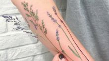 This artist uses actual nature as a stencil for her tattoos
