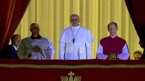Pope Francis appears on balcony