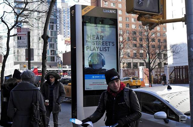 LinkNYC's free gigabit WiFi is here, and it is glorious