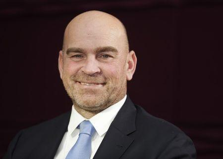 Denmark's Thomas Bjorn poses after being appointed as the European Ryder Cup Captain for The 2018 Ryder Cup