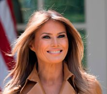 Donald Trump misspells Melania's name as he welcomes first lady home from hospital