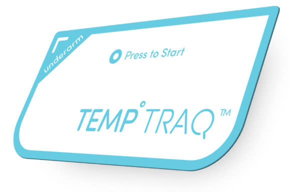 CES 2015: TempTraq Wearable Bluetooth Thermometer