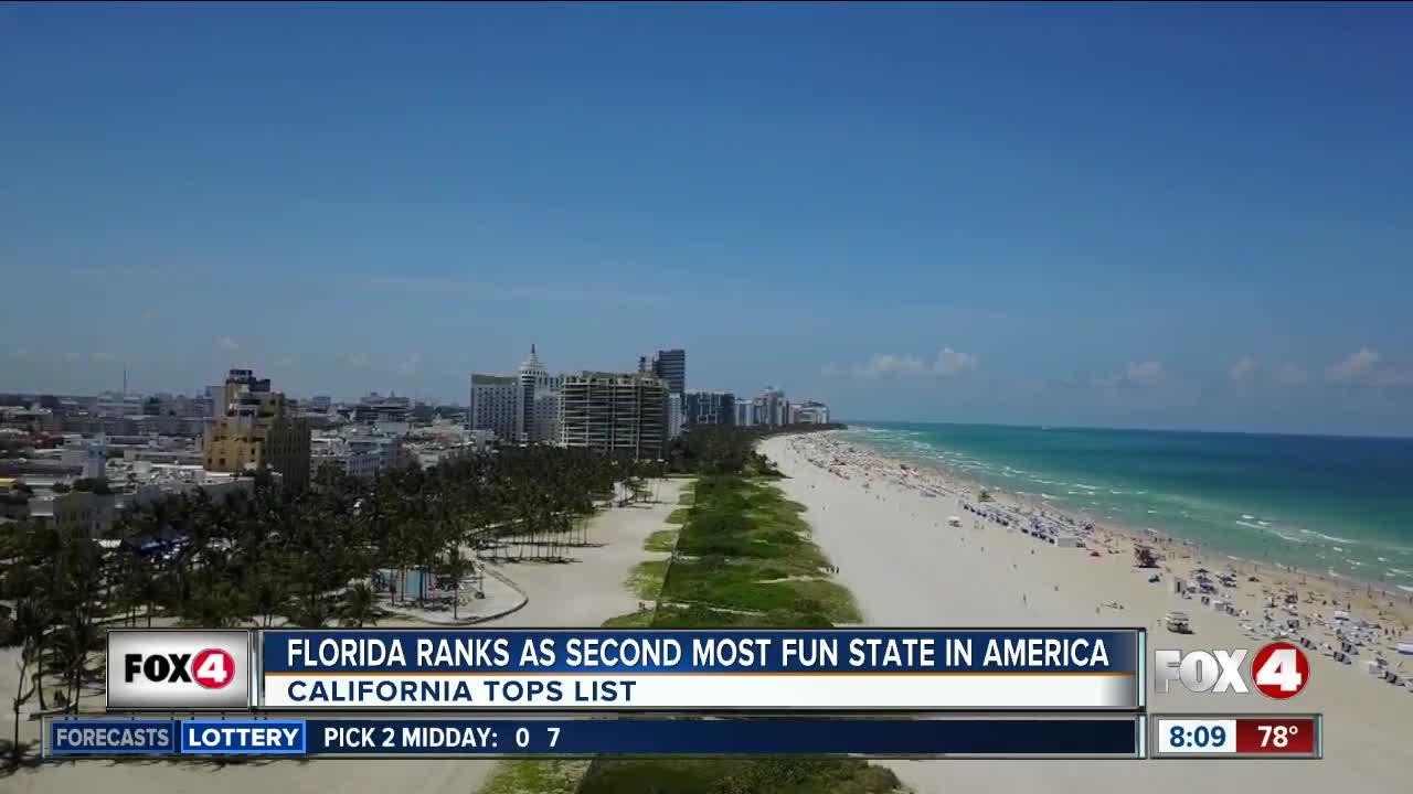 Study: Florida the No  2 'Most Fun State in America'