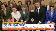 Beckham family attends Victoria's fashion show