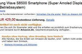 Samsung's Super AMOLED-packin' Wave S8500 priced in Germany: €429