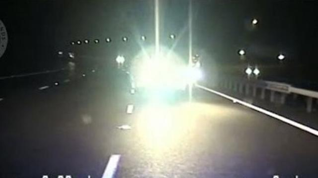 Brave Police Halt Driver on Wrong Side of Motorway