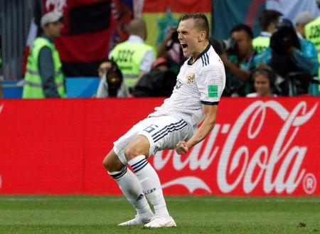 Russian football team went to the quarterfinals of the 2018 World Cup 01.07.2018 49