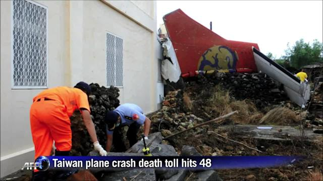 Death toll hits 48 after Taiwan plane crash