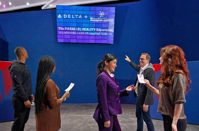 Delta's 2020 tech includes 'parallel reality' displays and a binge button