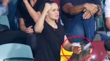 Brilliant truth behind Ash Barty's beer-drinking footy visit