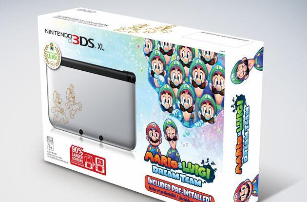 Mario and Luigi get a Nintendo 3DS XL bundle in silver, shipping now for $200