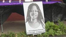 Mercy Baguma: Woman who died with crying baby in Glasgow buried in Uganda