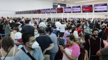 'It's a madhouse!': Tourists pile into Cancun airport after hurricane hits