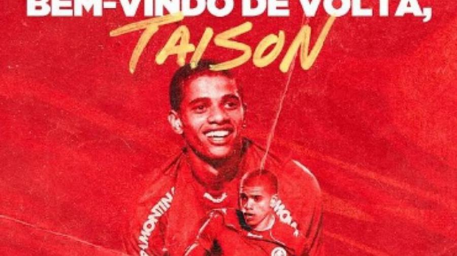 Taison Day! Inter anuncia volta do atacante Taison