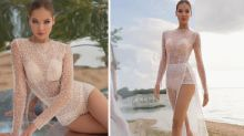 'Turkey breasts?': Bizarre detail on bodysuit wedding dress turns heads