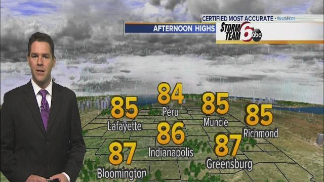 Wedensday's Forecast: Warm, breezy with partly cloudy skies