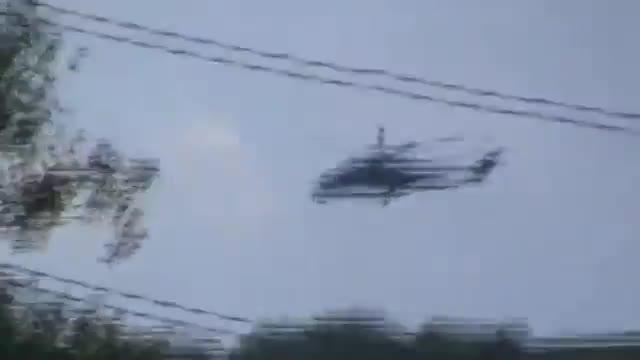 Military Helicopter Fired on in Slovyansk Region