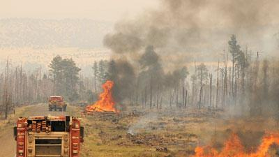 US Forest chief surveys massive NM wildfire