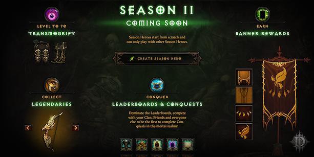 Season 2 brings new Seasonal Legendaries, Conquests to Diablo 3