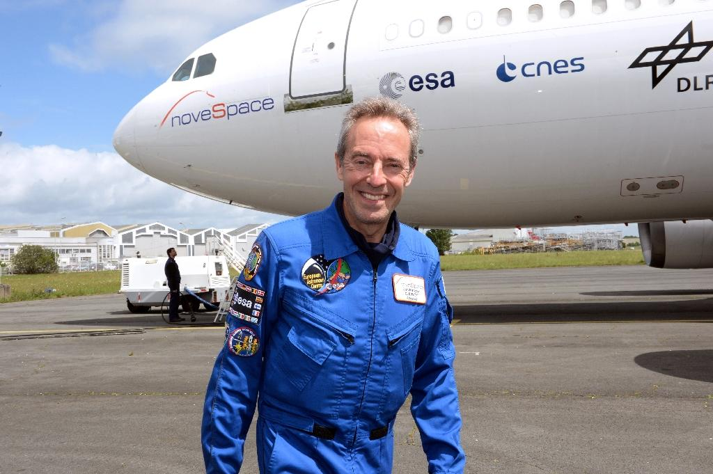 French astronaut Jean-Francois Clervoy - seen here in 2015 - will be aboard the modified Airbus A-310 zero gravity flight party (AFP Photo/JEAN-PIERRE MULLER)