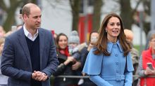 Kate Middleton's blue cape coat is amazingly chic and we are obsessed